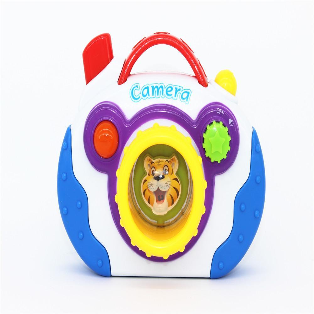 Kid 39 s soft montessori digital camera pretend play toy with music light electronic handheld - Camera montessori ...