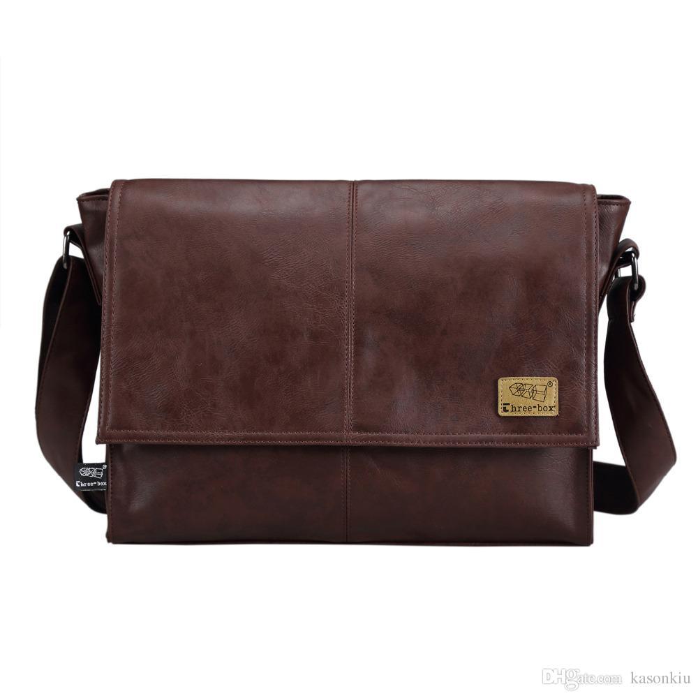 Designer Handbags Men 39 S 14 Inch Laptop Bag Pu Leather Messenger Bags Men Travel School Bags