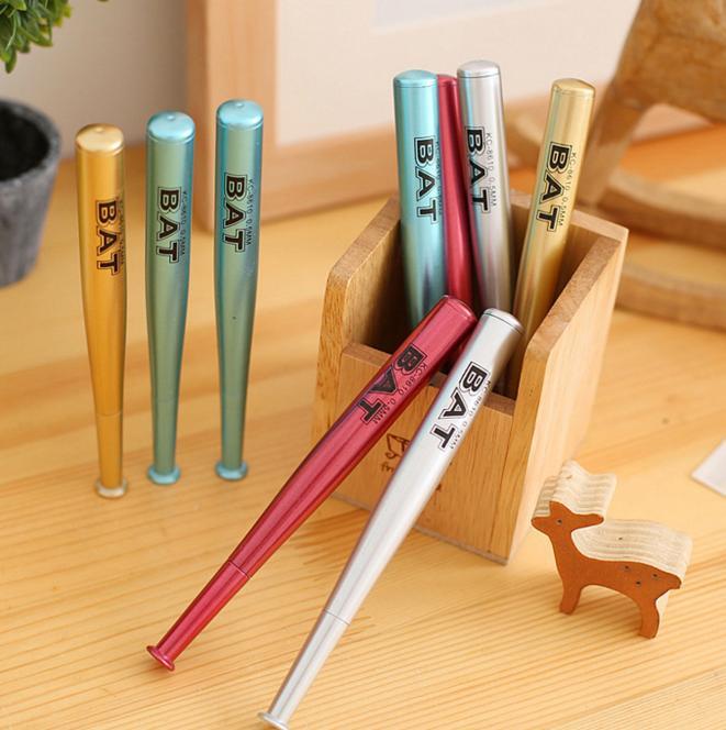 2018 Wholesale Creative Novelty Baseball Bat Gel Pen Kids