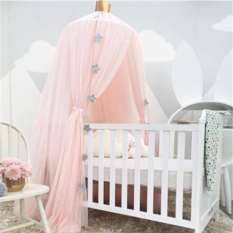 2017 summer baby mosquit net palace children room dome bed netting curtain cotton infant kids. Black Bedroom Furniture Sets. Home Design Ideas