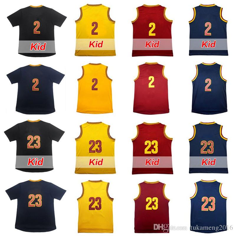Maillot de basket-ball 2 hommes Kyrie Irving de haute qualité 23 LeBron James Ad