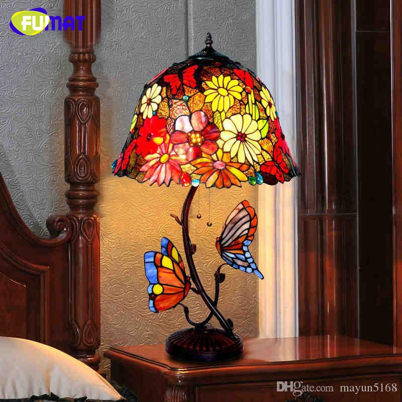 Tiffany Table Lamp European Style Garden Warm Bedside Lamp Stained Glass  Shade Vintage Style Hotel Bar Living Room Stand Lamp Tiffany Table Lamp  Vintage ...