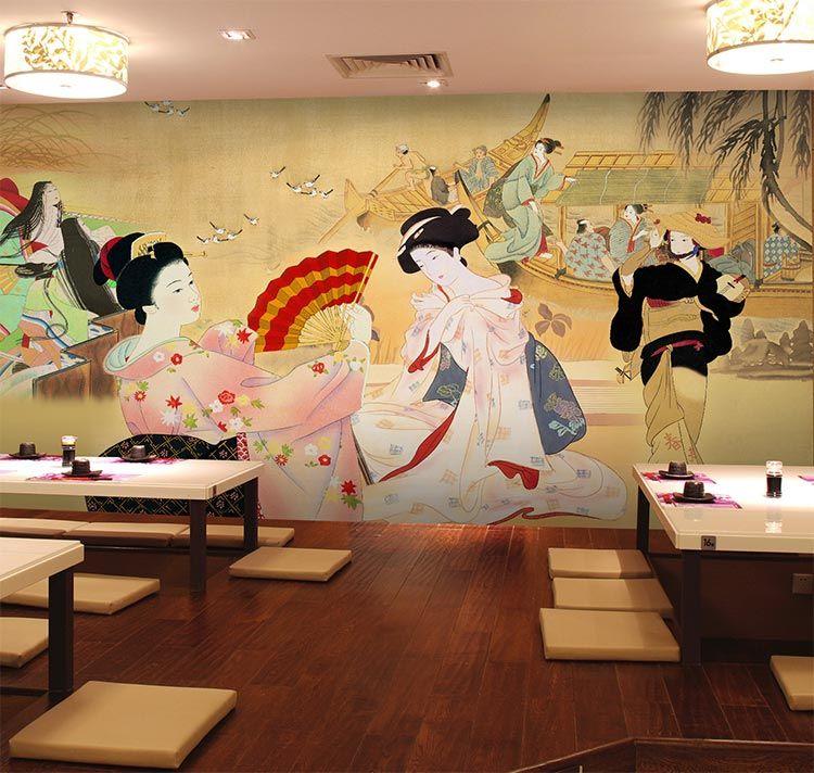 Sushi cuisine shop wallpaper restaurant hotel theme