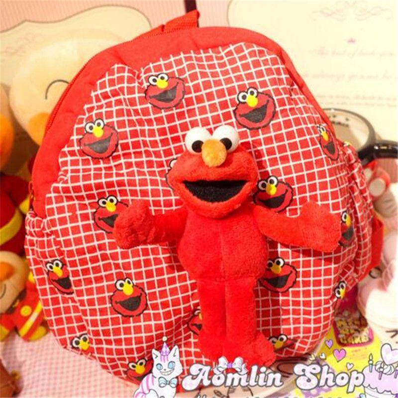 Cartoon School Bag Sesame Street ELMO Children 2017 Cute Backpacks