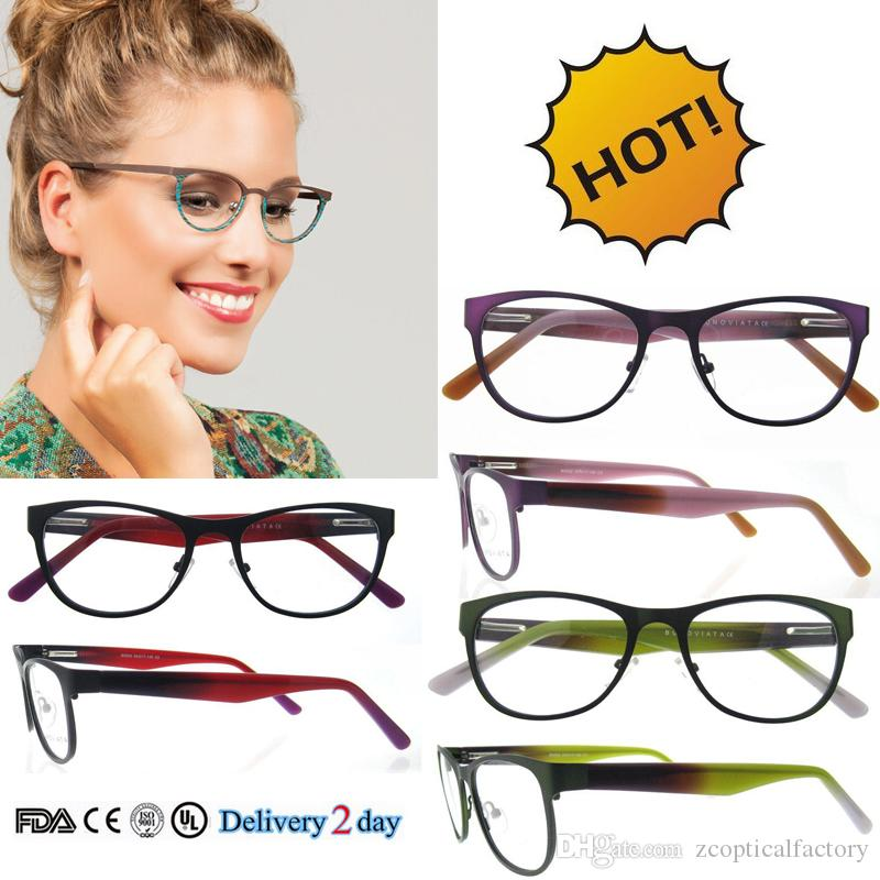 current eyeglass fashion  2017 2017 Wholesale Metal Frames Women Eye Glasses Optical Frame ...