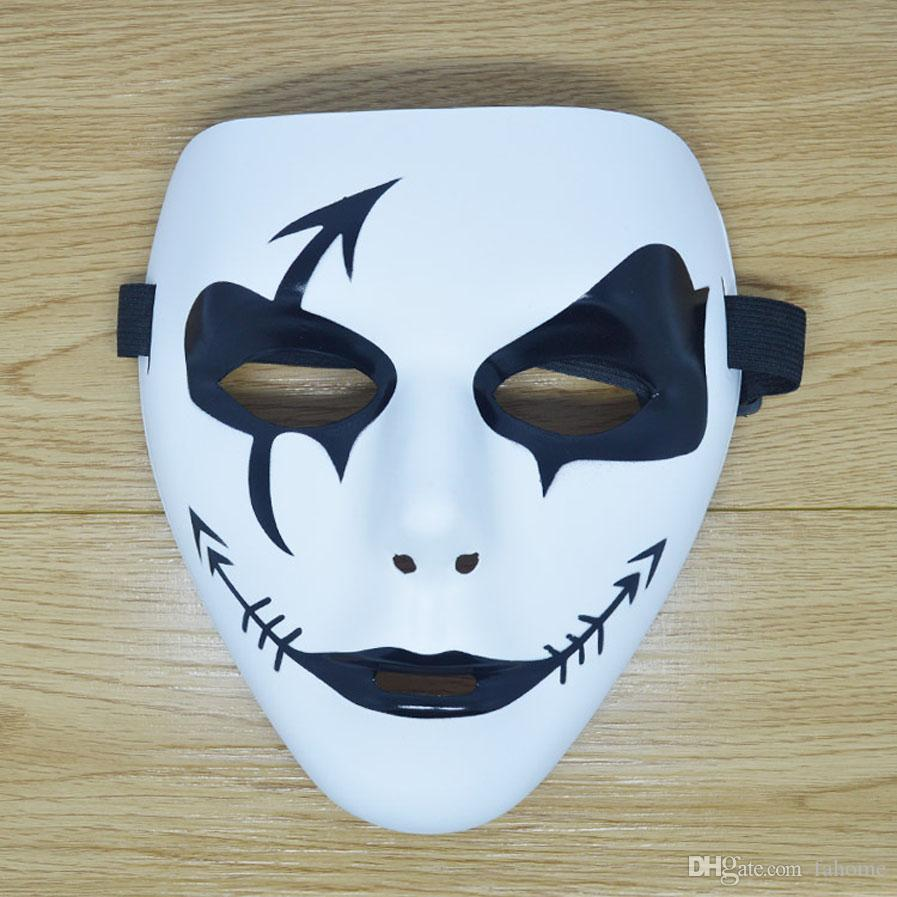 20 Styles Halloween Masquerade White Devil Party Mask, Evil Death ...