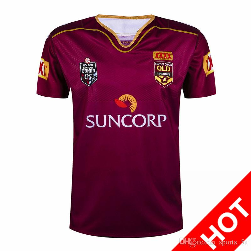 Livraison gratuite! 2017 NRL National Rugby League Queensland 2016 QLD Maroons M