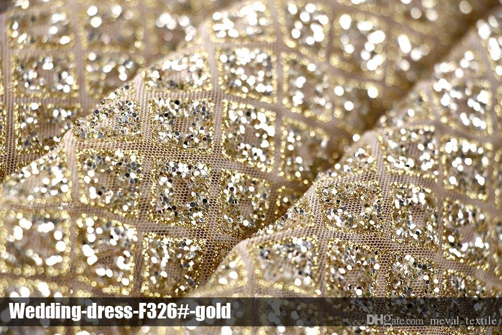 Excellent African Arabic Glitter Lace Sequin Fabrics New ...