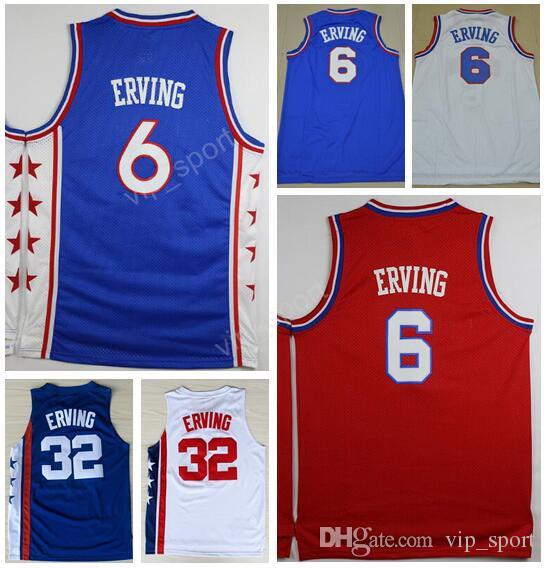 409ad6cf5db ... Sport Basketball 32 Julius Erving Throwback Jerseys Vintage Stitching  Autographed New York Nets Julius Erving Fanatics Authentic Adidas Swingman  Blue ...