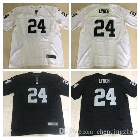 2017 Maillot de football 24 Marshawn Lynch pour homme neuf 100% broderie brodée