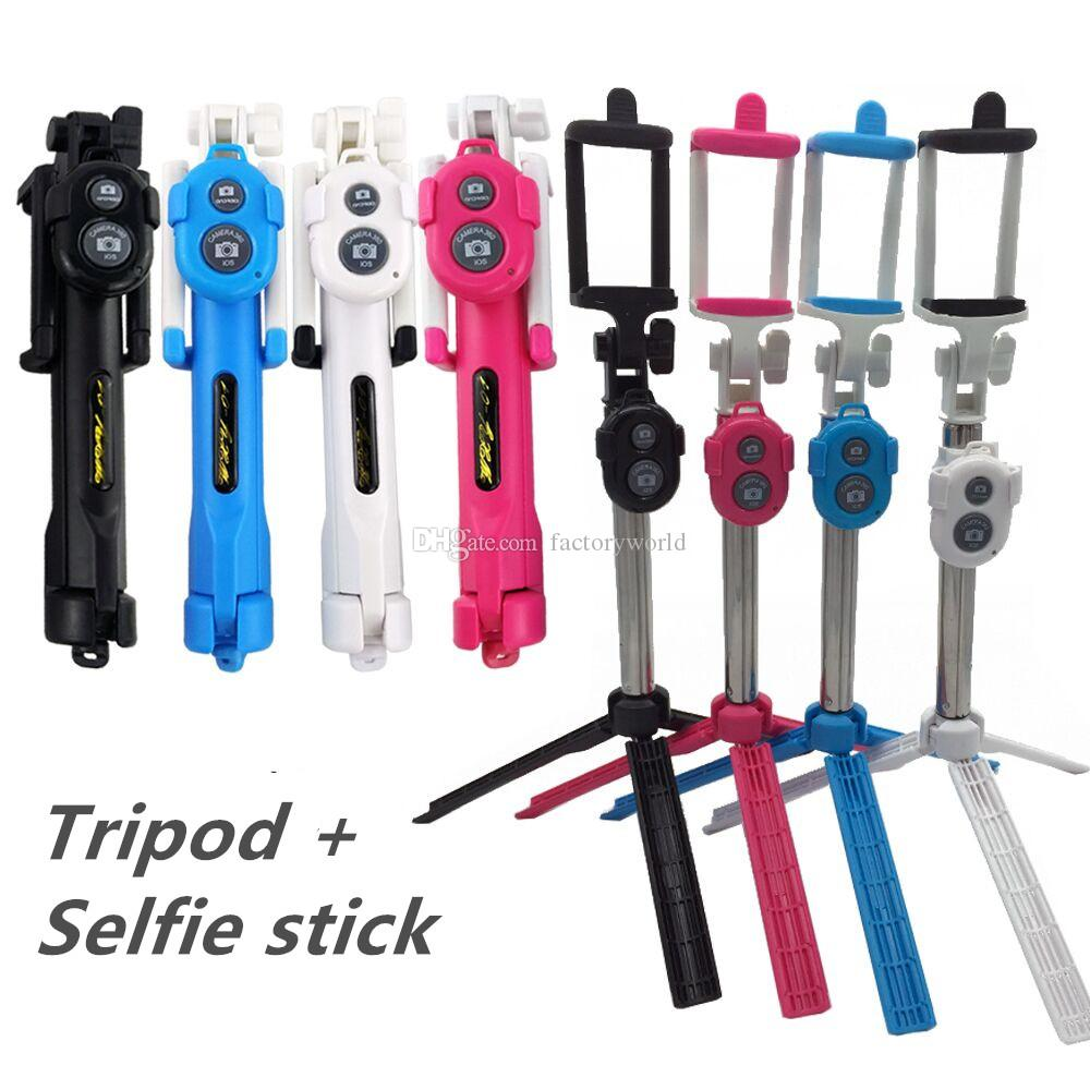 online cheap non slip super bluetooth control selfie stick with tripod handheld extendable. Black Bedroom Furniture Sets. Home Design Ideas