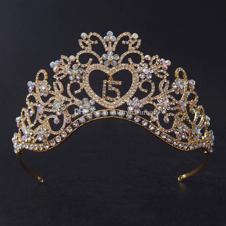 Wholesale Luxury Rhinestons Queen Wedding Crowns Sweet 15 ...