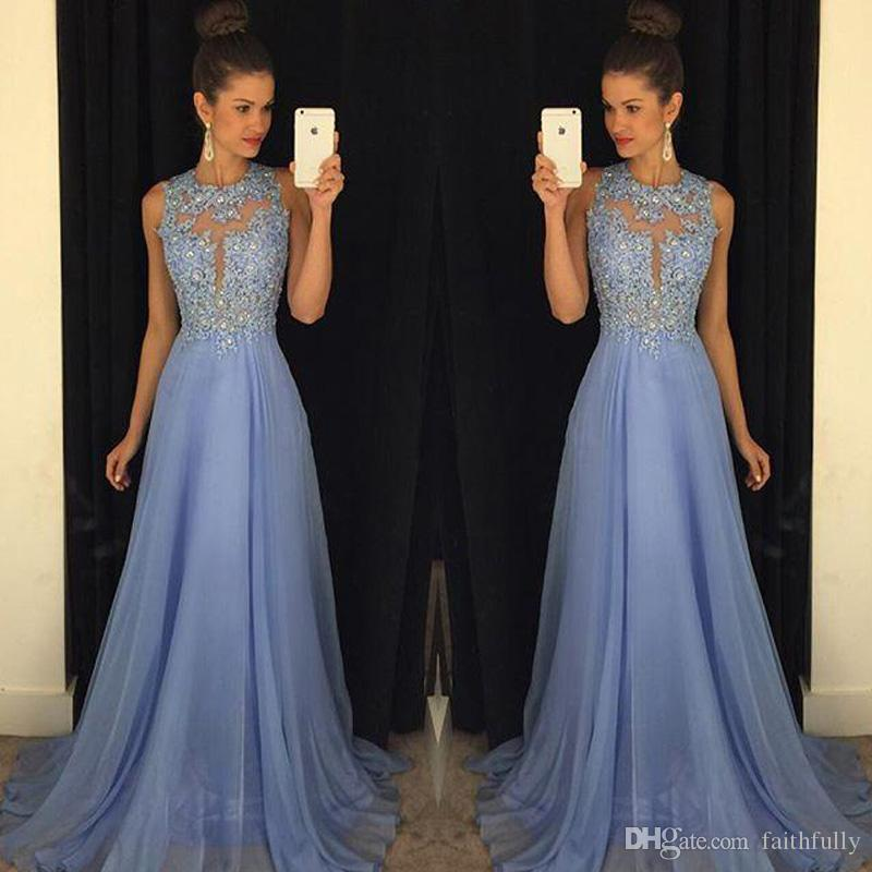 Lavender Prom Dresses Lace Applique Beads 2017 Formal Long ...
