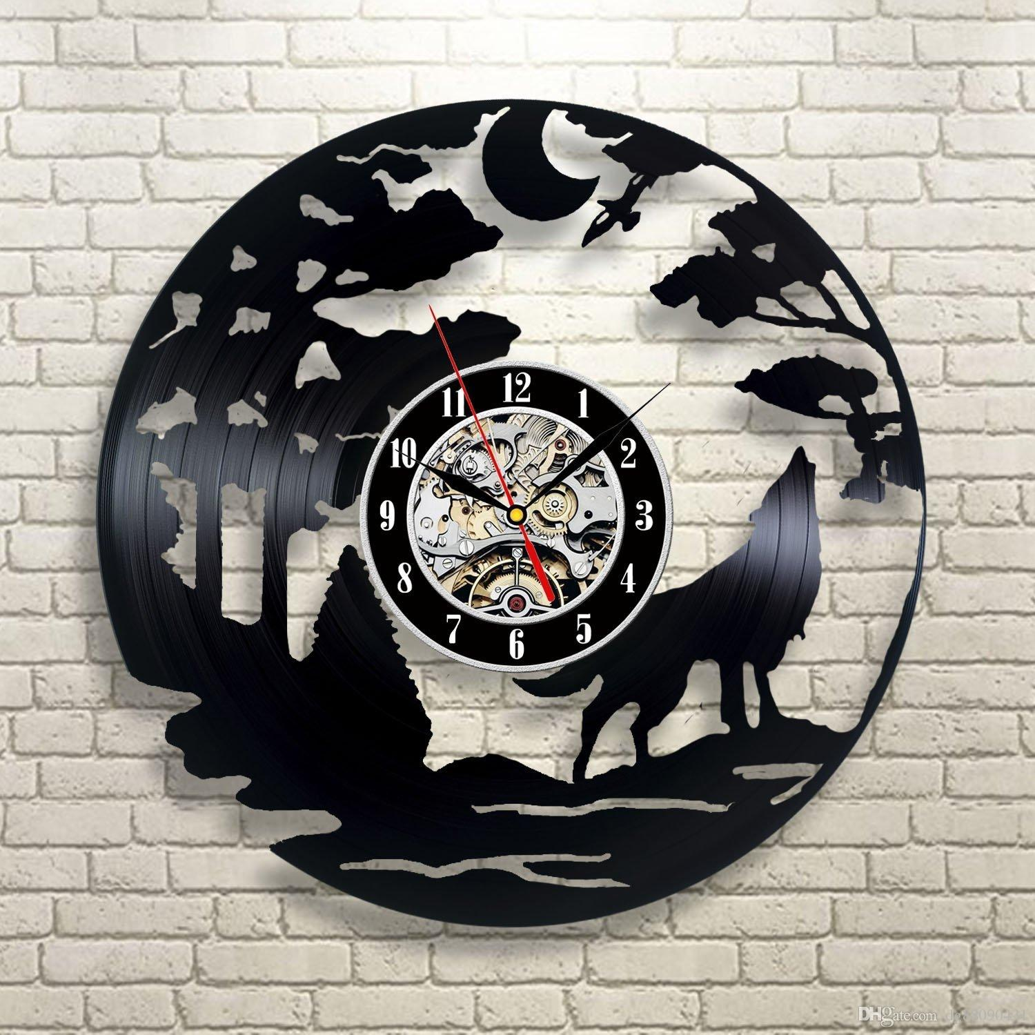 Wolf Gift Vinyl Record Designed Wall Clock-Decorate Your Home With Decor  Vintage Art-Best Gift For Friend, Man And Boy-Fashion And Beautiful Wall  Clock ...
