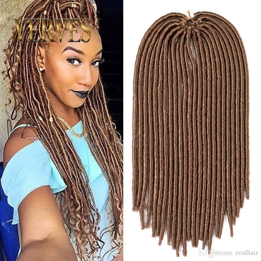 Verves Hot Sale Faux Locs Crochet Hair Mix Color