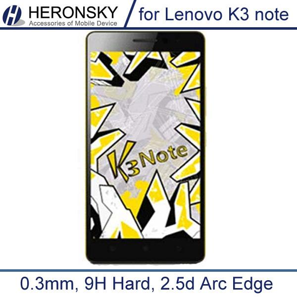 -0.3mm Tempered Glass Lenovo K3 Note 9H Hard 2.5D Arc Edge High Transparent Screen Protector Clean Tools
