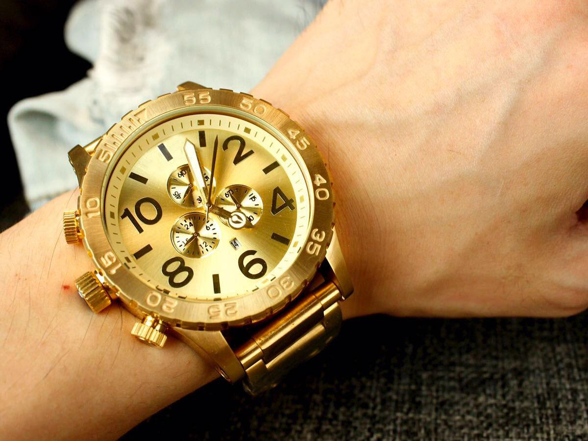 gold color big size full stainless steel rose gold watches men gold color big size full stainless steel rose gold watches men quartz chronograph man wristwatches fashion