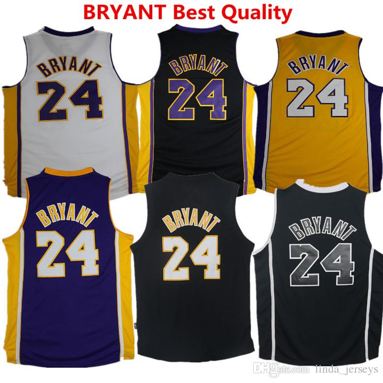 Lakers Basketball Jersey 24 Kobe Bryant Formation Chemises Los Angeles Soccer Pa