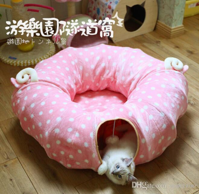 2017 luxious pet cat toy cat tunnel lengthen retractable for Retractable cat toy