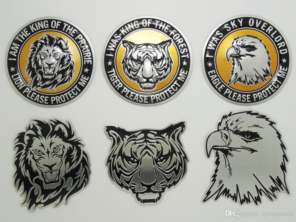 Car sticker eagle - Lion Tiger Eagle Animal King Hero Comics Car Sticker Truck Auto Metal Logo Badge Emblem Decal