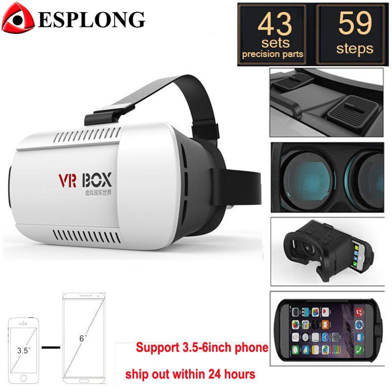 Magic Jobs Google Картон VR BOX Виртуальная реальность 3D-очки для iPhone 6  Plus Samsung Galaxy e284bbdf89efe