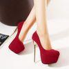 Buy Shoes Woman High Heel 2016 Spring 16 cm Red Heels GZ Bridal Elegant Ladies Pumps Fashion Platform