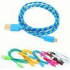 Buy Galaxy S6 Note5 Colorful Micro USB Cable Fabric Braided 1M/3FT 2M/6FT 3M/10FT Htc Lenovo Huawei cable