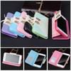 Buy Luxury Bow Tie Lace Stand Wallet Flip Leather Case Cover Samsung Galaxy S4 S5 Card Slot iPhone 6 6S plus 5 4 5S 4+Bag Chain