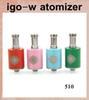 Buy atomizers tanks igo-w atomizer Electronic Cigarettes IGO-W Rebuildable Dripping Atomizer stainless steel black plated El ATB254