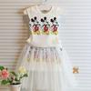 Buy Minnie White Tank Tops Girl Dress Best Suits Child Clothes Kids Clothing 2015 Summer Ruffle Maxi Skirt Children Set Suit Outfits C7806