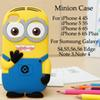 Buy Despicable 2 Minion Soft Silicone Rubber Yellow Cartoon Skin Case Cover iPhone 6 6S Plus 5 5S 4S Galaxy S6 edge S5 S4 Note 4 3