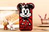 Buy 3D Cute Cartoon Graffiti Mickey Minnie Mouse Duck Silicone Case Cover iphone 4 4S 5 5S 6 4.7 plus 5.5 pp bag