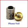 Buy Plume Veil RDA RBA Clone rebuildable Atomizer V1.5 V2 ss black red copper Plumeveil 510 Mod clone cigarettes