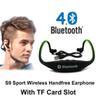 Buy Original S9 Headphones Sport Wireless Bluetooth 4.0 Earphone Headset TF Card Slot iPhone Samsung Xiaomi fone de ouvido T0122-3