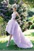 Buy High Low Sweety Light Purple Cocktail Dresses Long Layer Strapless Open Back Popular Prom Gown Homecoming Dress Celebrity Red Carpet Gowns W
