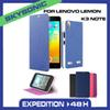 Buy LENOVO LEMON K3 NOTE DOB flip cover Wallet PU Leather Flip Cover Case,card slot Stand Holder cover,Multi Colors leather case