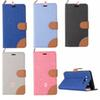Buy CANVAS Wallet Leather Jean Case Stand Card TPU Pouch Dual color Denim Samsung Galaxy J3 O7 On7 On5 O5 Sony Ericsson Xperia Z5 Plus Skin