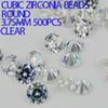 Buy Fashion Crystal Clear Color AAAAA Brilliant Cuts Round Shape Cubic Zirconia Beads Stones Jewelry Diy Nail Art Decorations