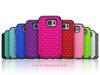 Buy Samsung Iphone Hybrid Case Heavy Duty Durable TPU PC Star Diamond Robot Cases Shockproof Back Cover Bling Rhinestone