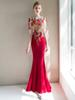 Banquet evening dress 2018 new noble elegant fishtail show thin long female temperament red toasting dress