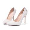 Buy High Recommend Wedding Shoes 11cm Pointed Toe Imitation Pearl Rhinestone Custom Made Women