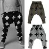 Buy 3 colors Baby harem pants cross printed children trouser 2016 spring autumn kids costume fashion girls boys baby clothes