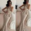 Buy Hot ! New 2015 Elegant Mermaid O-Neck Sleeveless Formal Evening Gowns Floor Length Long Lace Dresses Sashes