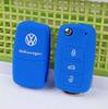 Buy silicone blue car key cover case Volkswagen VW polo b5 b6 golf 4 5 6 jetta mk6 tiguan Gol CrossFox Plus Eos