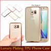 Buy Anti-scratch Ultra Slim Electroplate Plating Transparent Soft TPU Case iPhone 7 Plus 6 6S SE 5S 5 Samsung S8 Note5 A8 A9