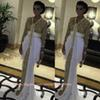 Buy Sparkly gold white Long Sleeves Prom Dresses Sequins Floor Length Pageant chiffon Party Dress Evening Gowns BO7204