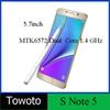 Buy 1:1 Note 5 cellphone metal frame Note5 smartphone Android 5.0.1 Dual core 5.7 inch MTK6572 Cell phone fake 3GB RAM 64GB ROM vs S7 edge 4G LTE