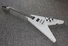 Buy electric guitar costom flying v ebony fretboard white