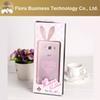Buy MOQ 1DHL Cute Rabbit Phone Cases TPU Clear Heart Lanyards Back Cover Case Samsung J1 E5 E7 A5 A7
