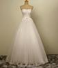 Buy Line Real Wedding Dresses Cheap Lace Applique Bridal Gowns Beads Sequins Crystal Floor Length Plus Size Modest